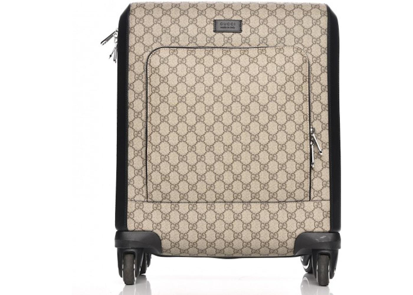 4f9e18ea737 Gucci Trolley Carry On Monogram GG Supreme Black Beige
