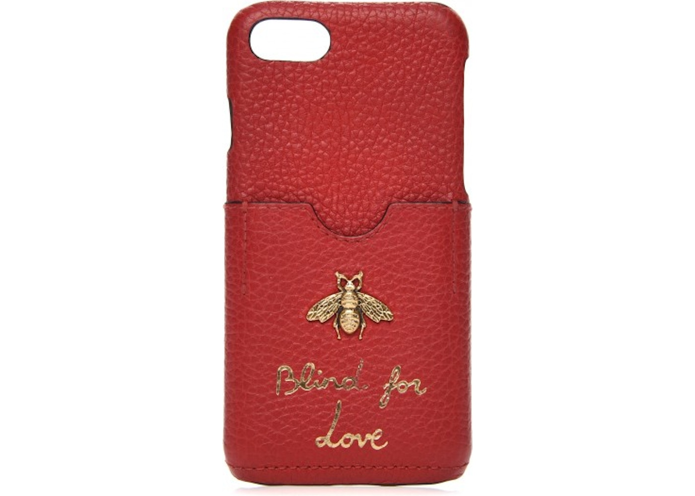 new products 99ac6 0fbbc Gucci Iphone 7 Case Bee Hibiscus Red