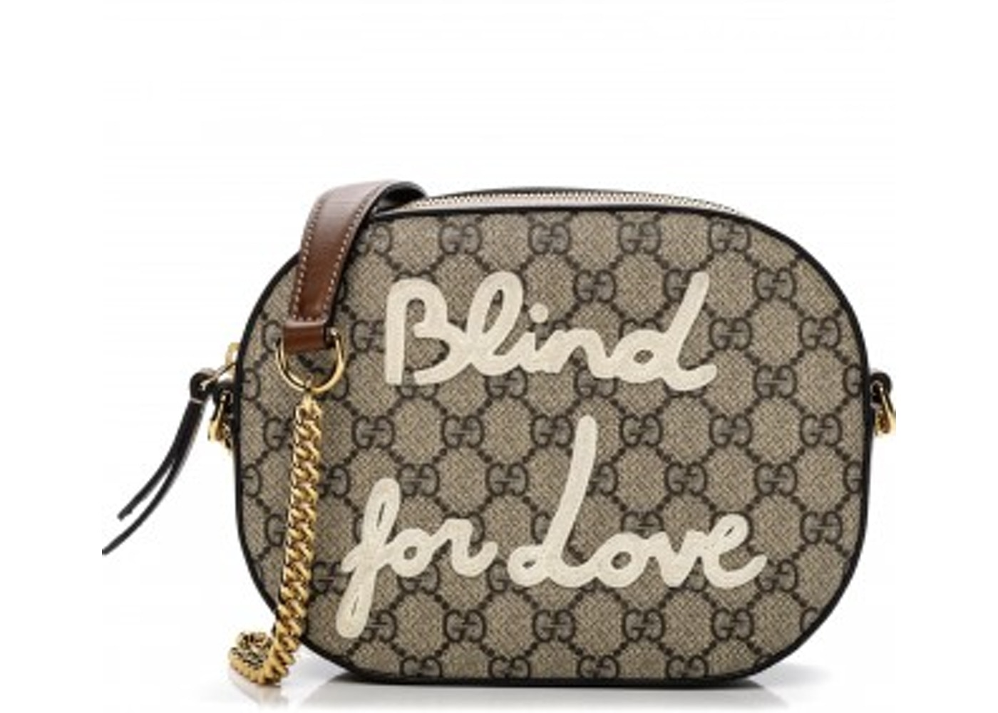 2a05e0db5f6 Gucci Chain Crossbody GG Supreme Monogram Embroidered Blind ...