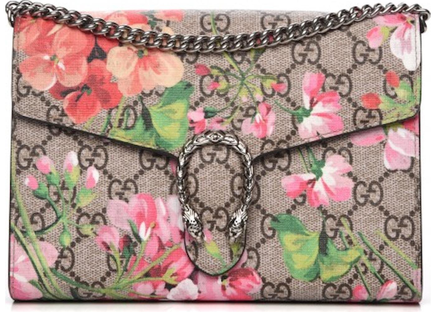 6f184626beaa17 Gucci Chain Wallet Dionysus Gg Supreme Beige Canvas Cross Body Bag .