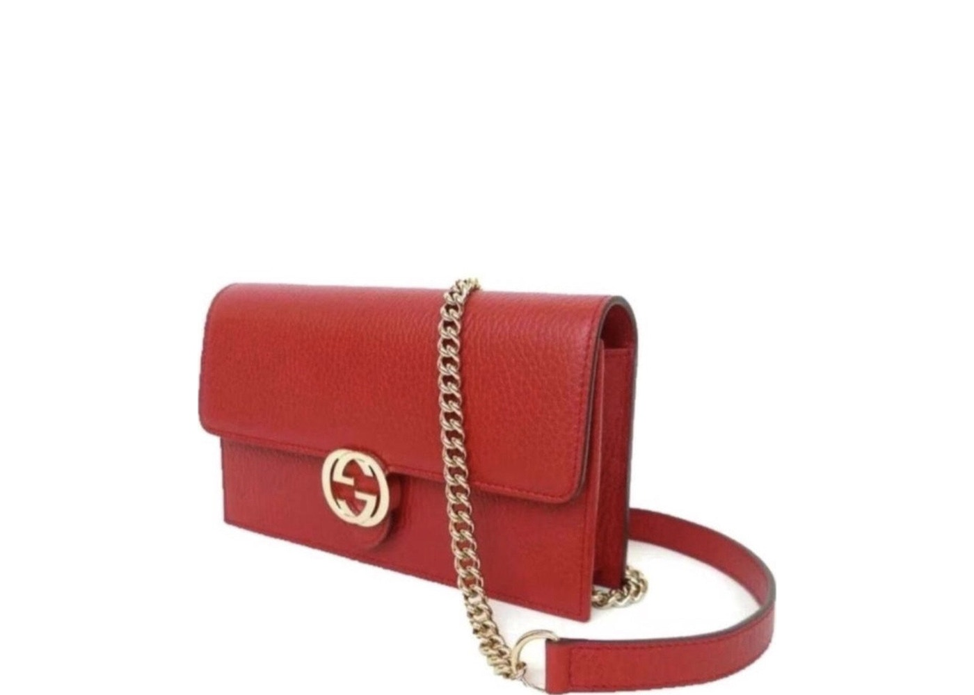 268c7add0ce Gucci Chain Wallet Icon Rich Red. Rich Red