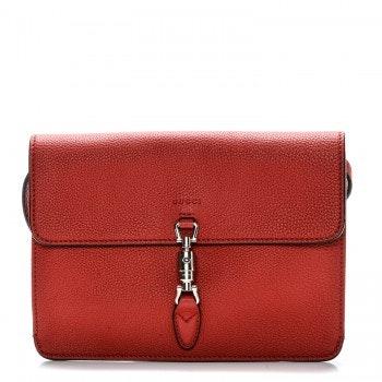 Gucci Jackie Clutch GG Convertible Mini Red