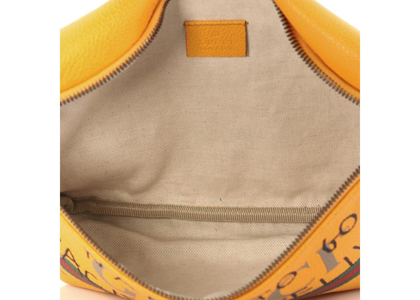 a354b1b38826f2 Gucci Coco Capitan Belt Bag Vintage Logo Print Small Yellow
