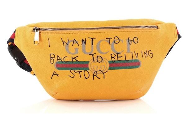 fd5f3afb569b9c Gucci Coco Capitan Belt Bag Vintage Logo Print Small Yellow