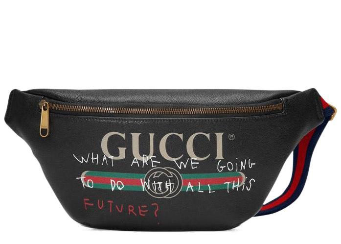 Gucci Coco Capitan Logo Belt Bag Vintage Logo Black