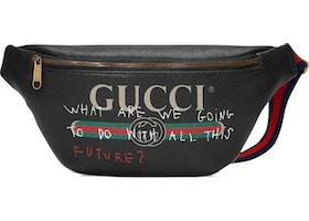 d0629eda3ddf Gucci Coco Capitan Logo Belt Bag Vintage Logo Black