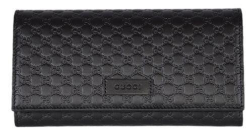 Gucci Continental Bifold Wallet Microguccissima Black