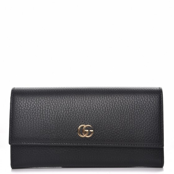Gucci Marmont Continental Wallet GG Black