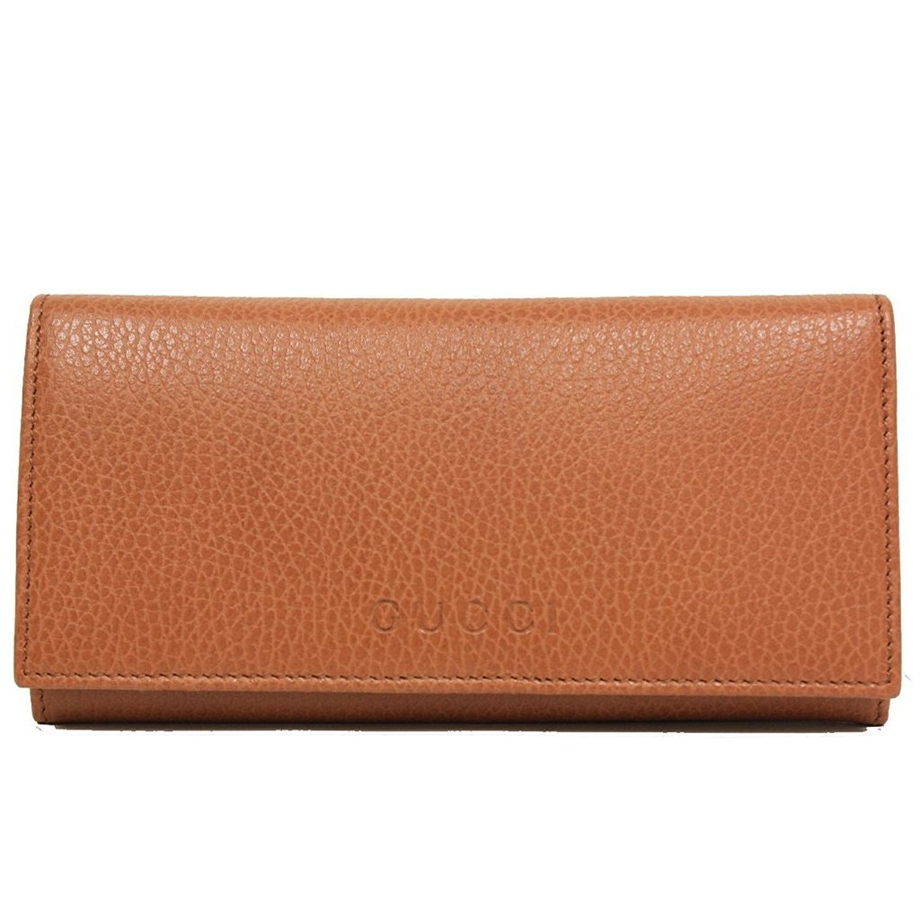 Gucci Continental Wallet Saddle Brown