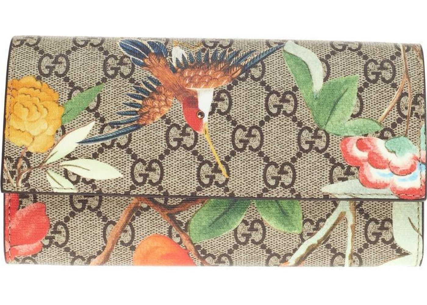 63aa724a7eadca Sell. or Ask. View All Bids. Gucci Continental Wallet GG Tian Red/Green/ Beige