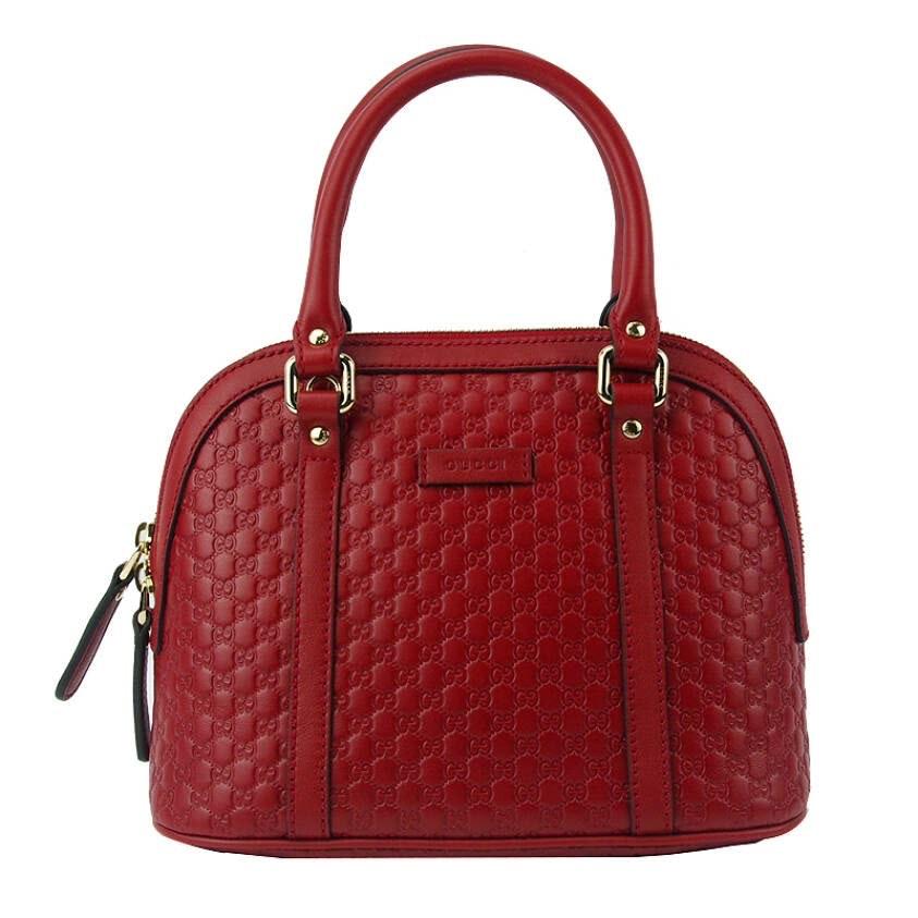 Gucci Convertible Dome Microguccissima Red