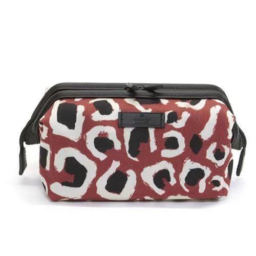 Gucci Cosmetic Bag Leopard Red Multicolor