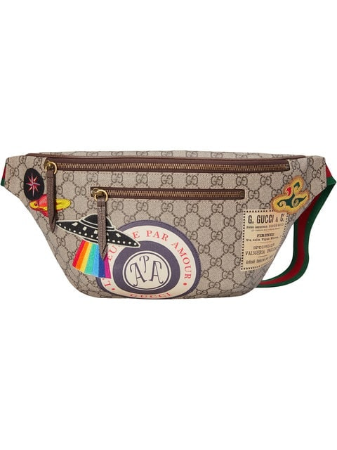 Gucci Courrier Waist Bag GG Supreme Beige/Ebony