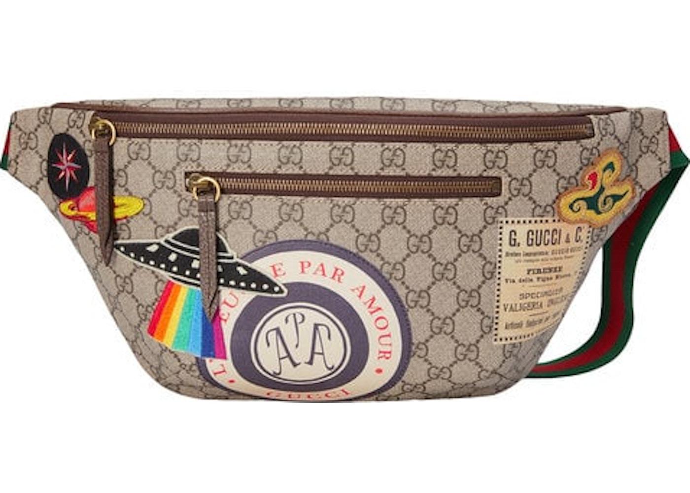 b935af003530f Gucci Courrier Waist Bag GG Supreme Beige Ebony. GG Supreme Beige Ebony
