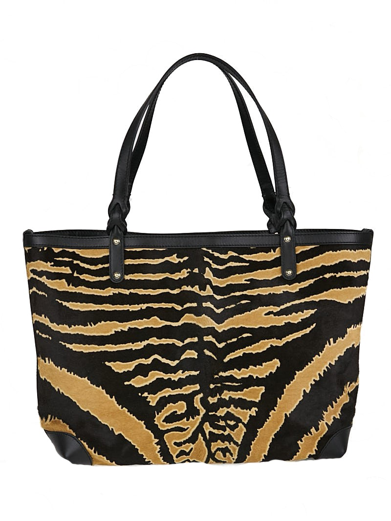 Gucci Craft Tote Zebra Medium Black/Brown