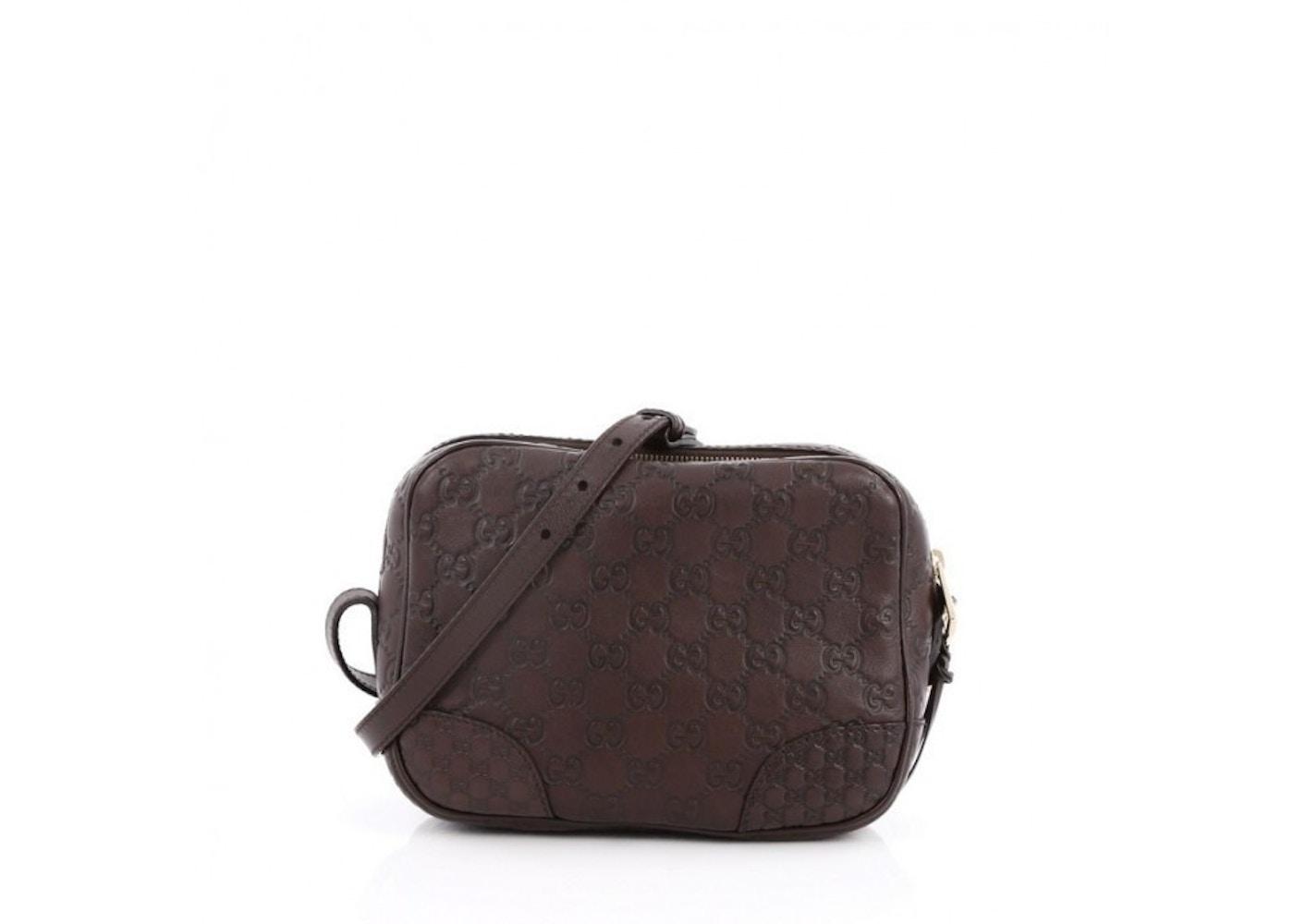 100% genuine factory Buy Authentic Gucci Bree Disco Crossbody Guccissima Mini Dark Brown