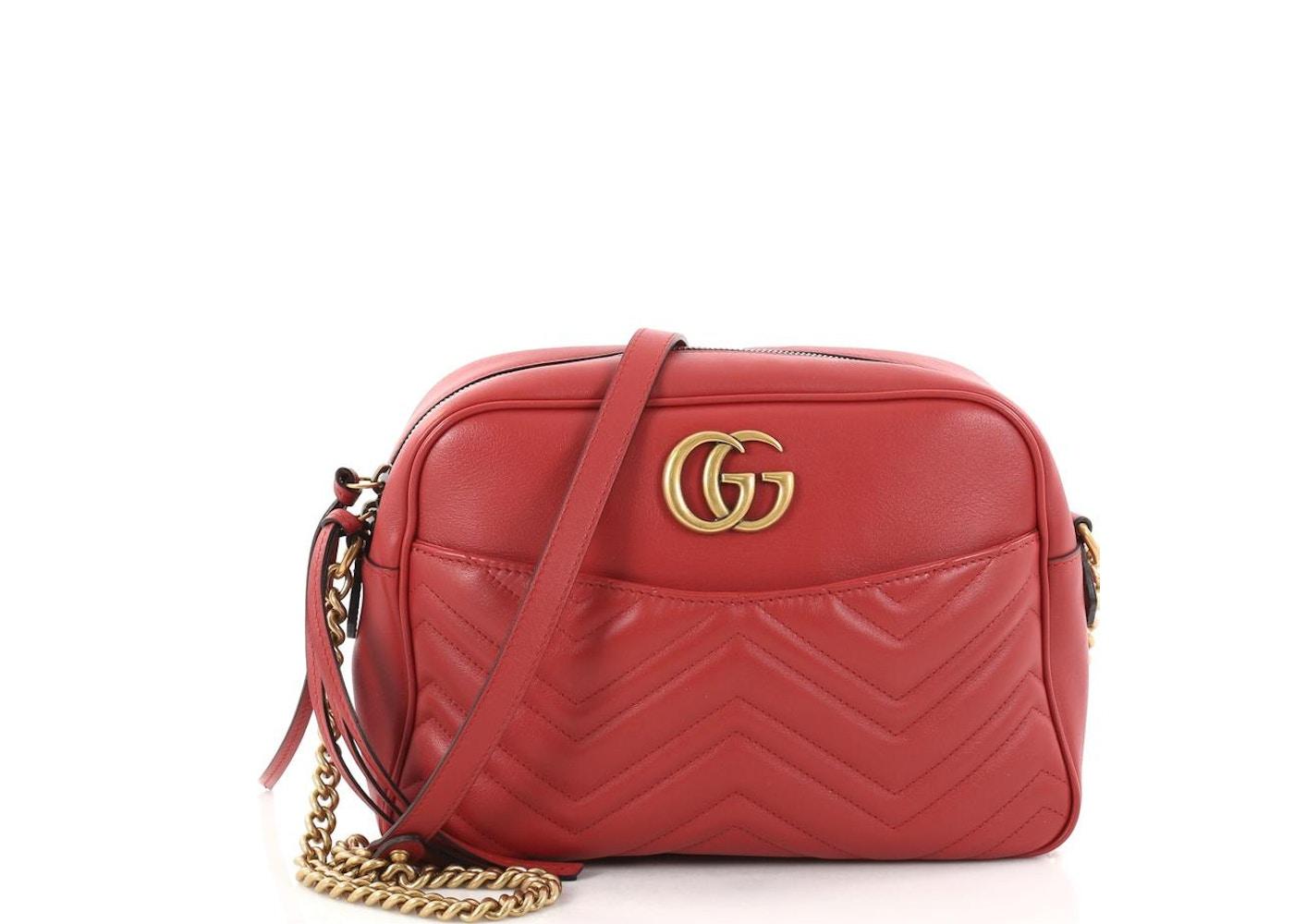 cf51af653 Gucci Marmont Crossbody Matelasse GG Medium Red. Matelasse GG Medium Red