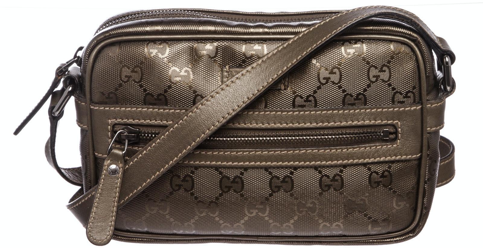 Gucci Crossbody Monogram GG Imprime Grey