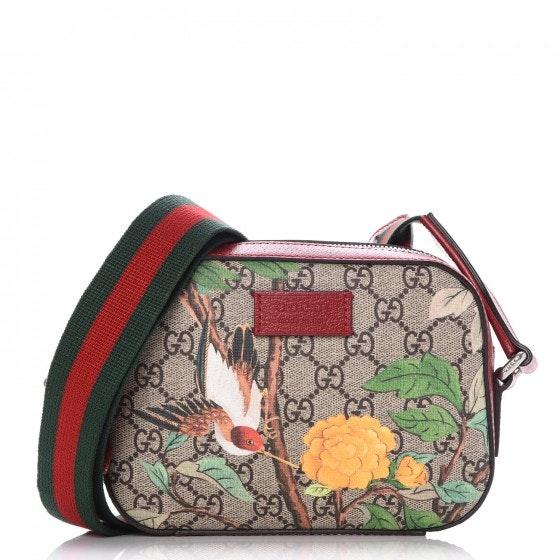 Gucci Crossbody Monogram GG Supreme Tian Mini Red