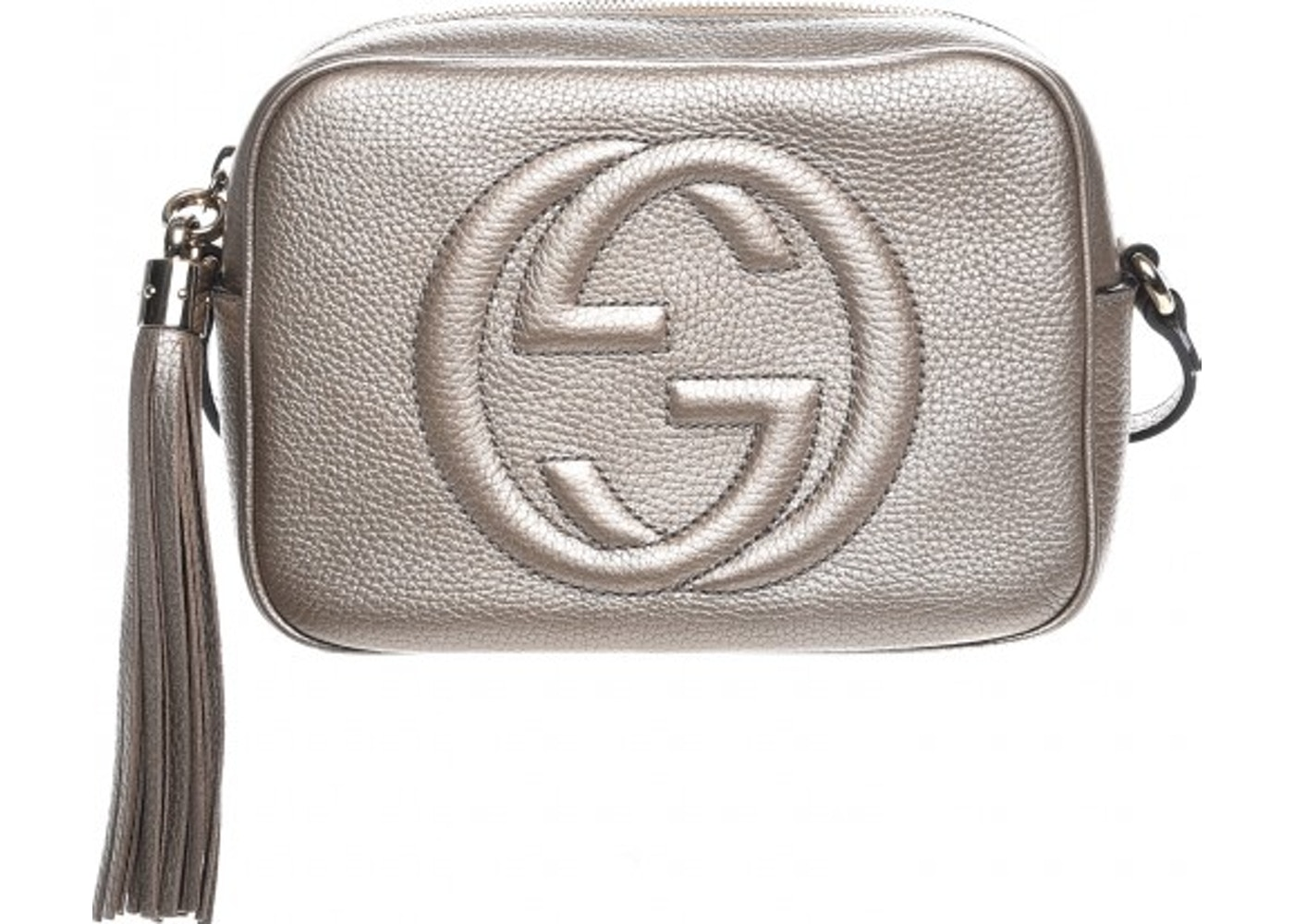 429f55435 Gucci Soho Disco Crossbody Metallic Small Silver. Metallic Small Silver