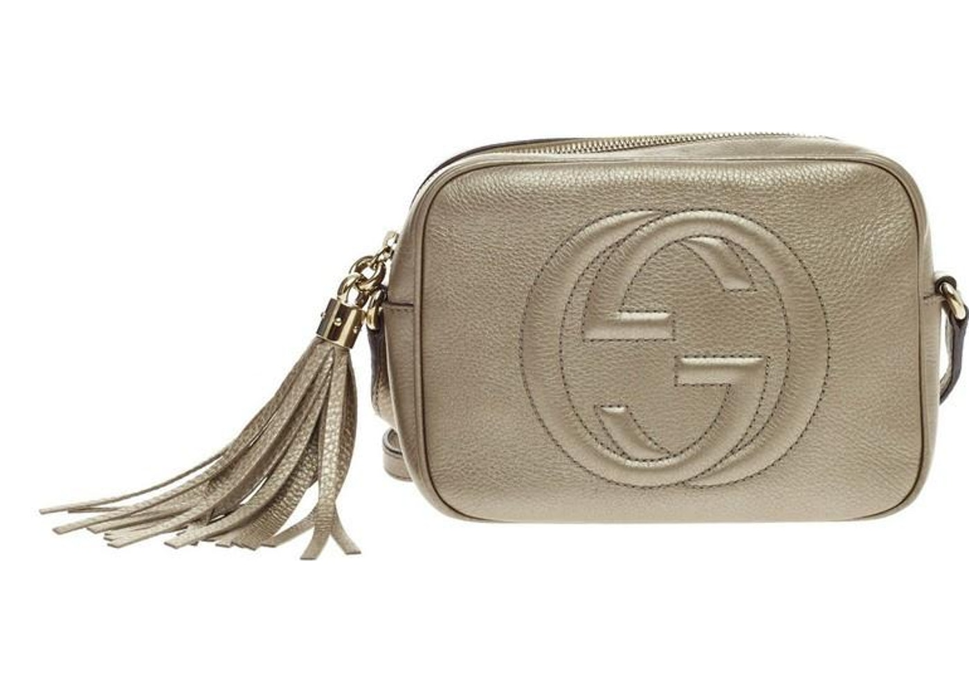 3f91e690f Gucci Soho Disco Crossbody Small Metallic Gold. Small Metallic Gold