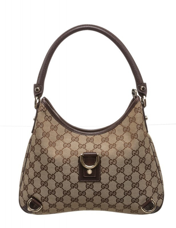 Gucci D-Ring Shoulder Monogram GG Beige