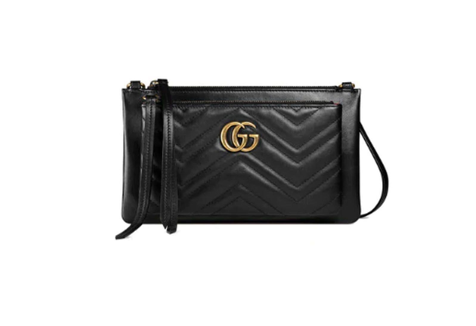 Gucci Detachable Marmont Matelasse Black