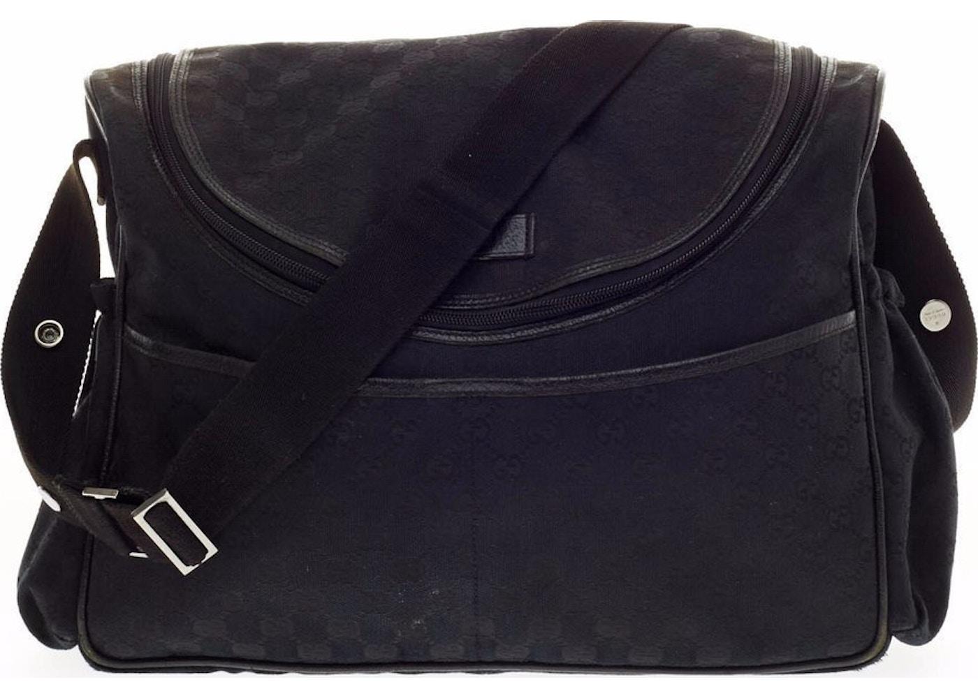 4b9505ca2d57 Gucci Diaper Bag Crossbody GG Black. GG Black