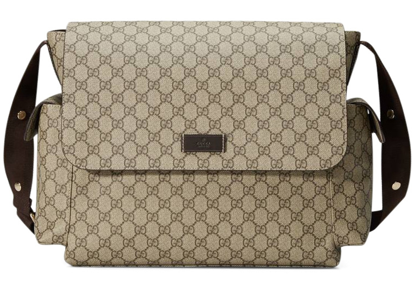 Gucci Diaper Bag Crossbody Gg Supreme Brown