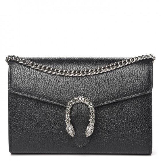 Gucci Dionysus Chain Wallet Mini Black