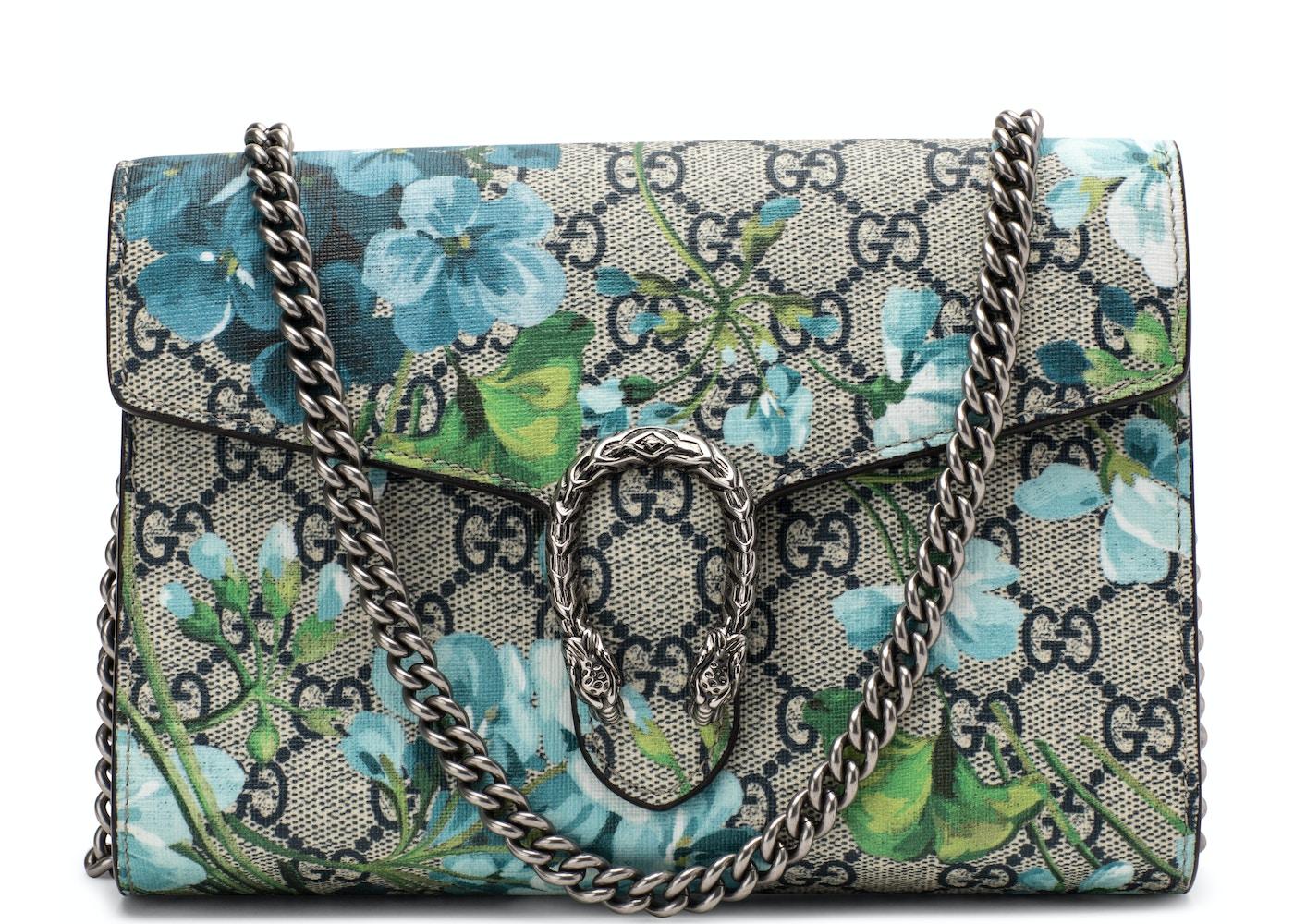 89d43bb412e Gucci Dionysus Crossbody GG Supreme Monogram Blooms Mini ...