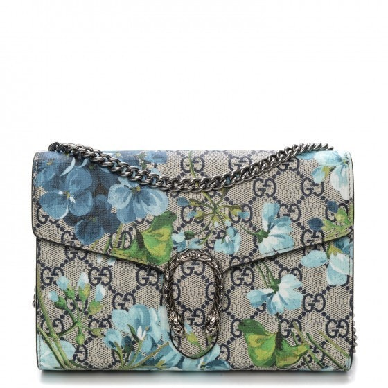 Gucci Dionysus Crossbody GG Supreme Monogram Blooms Mini Beige/Blue