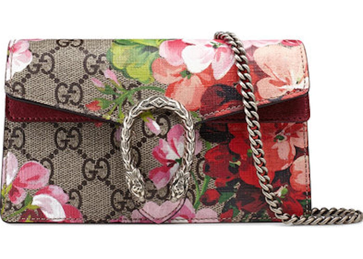 11a4416076a40 Gucci Dionysus GG Blooms Super Mini Beige Ebony. Blooms Super Mini  Beige Ebony