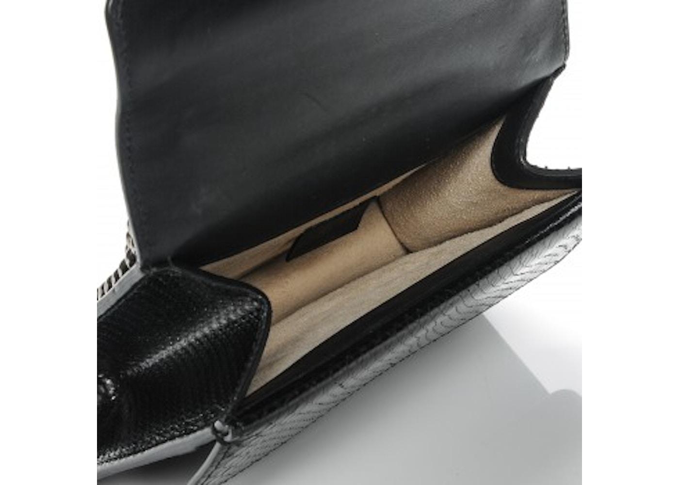 9066d9d43b811f Gucci Dionysus Shoulder Python Mini Black