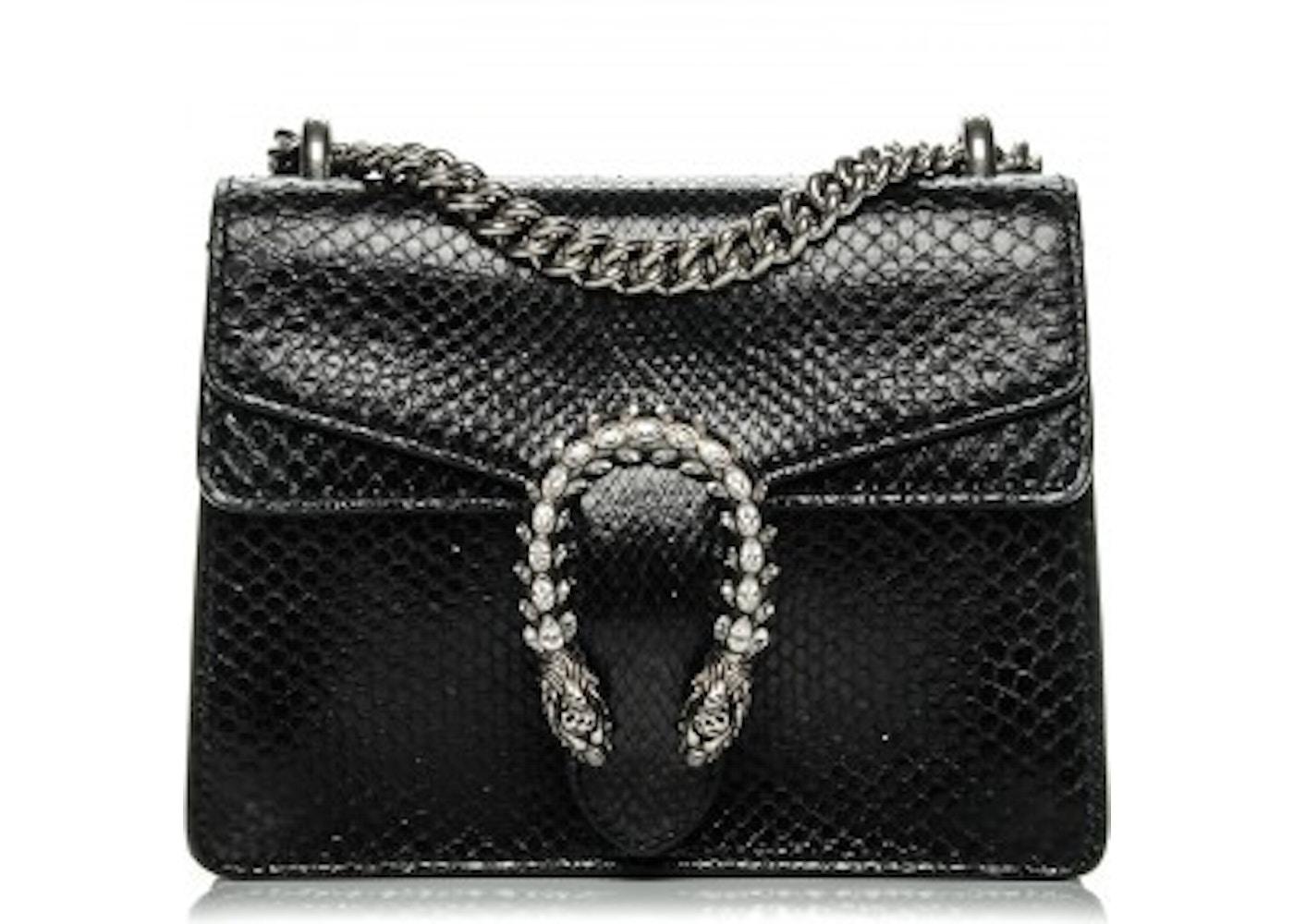 7ade7bff6dcfd6 Gucci Dionysus Shoulder Python Mini Black. Python Mini Black
