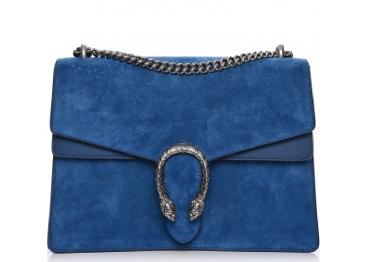 b9ba1e0630a8 Gucci Dionysus Shoulder Suede Blue Medium. Suede Blue Medium