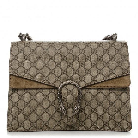 Gucci Dionysus Shoulder GG supreme Medium Brown