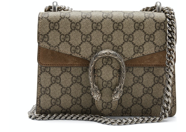 aec339613 Gucci Dionysus Shoulder GG Supreme Mini Brown