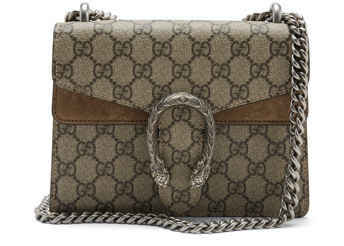 Gucci Dionysus Shoulder Bag Gg Supreme Mini Brown