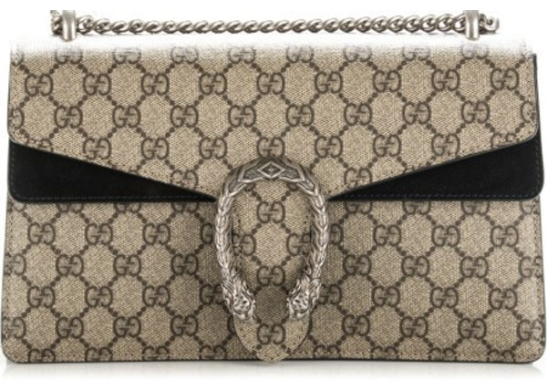 dbe4ccee059 Gucci Dionysus Shoulder GG Supreme Small Brown Black