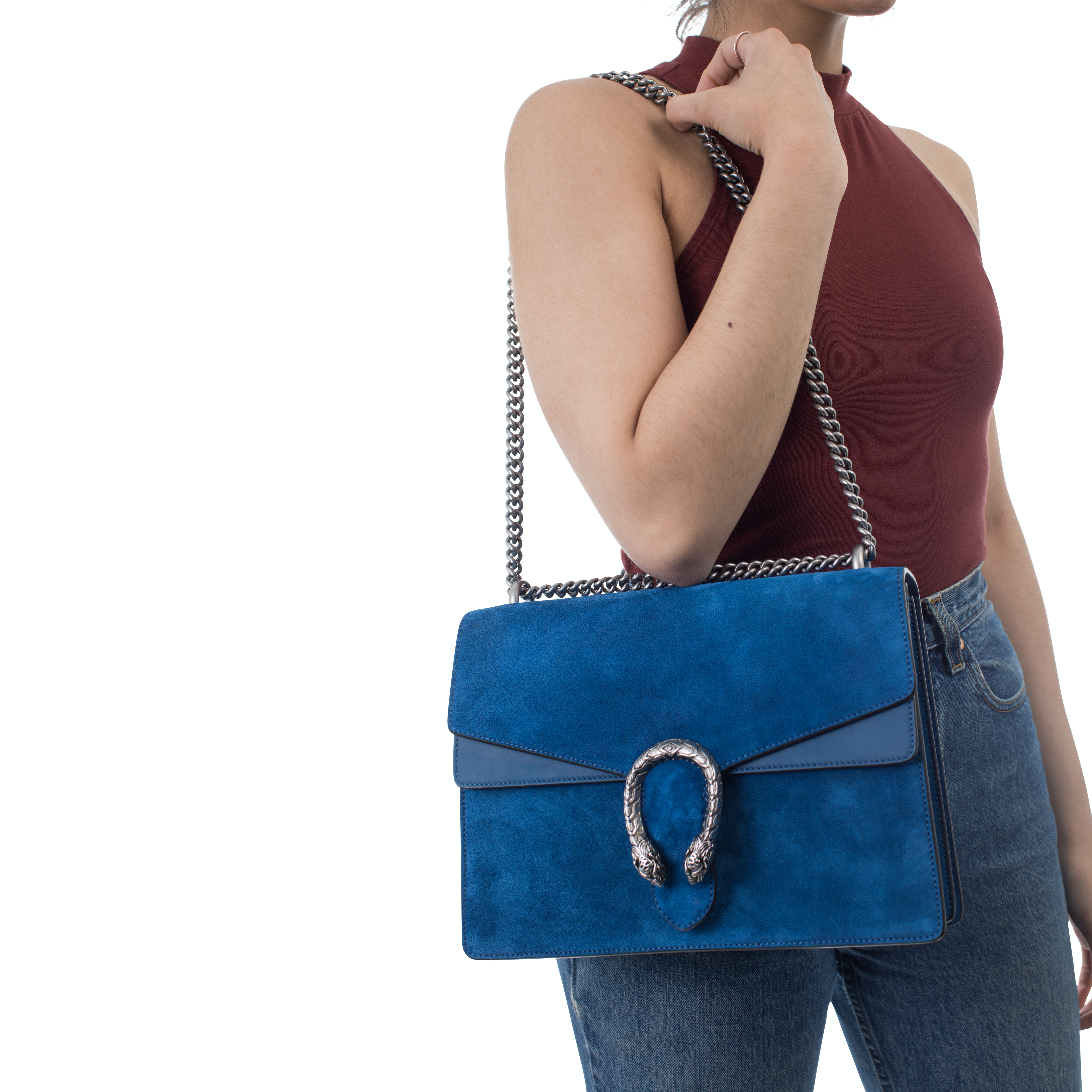 Dionysus Suede And Leather Shoulder Bag , Madly Indian