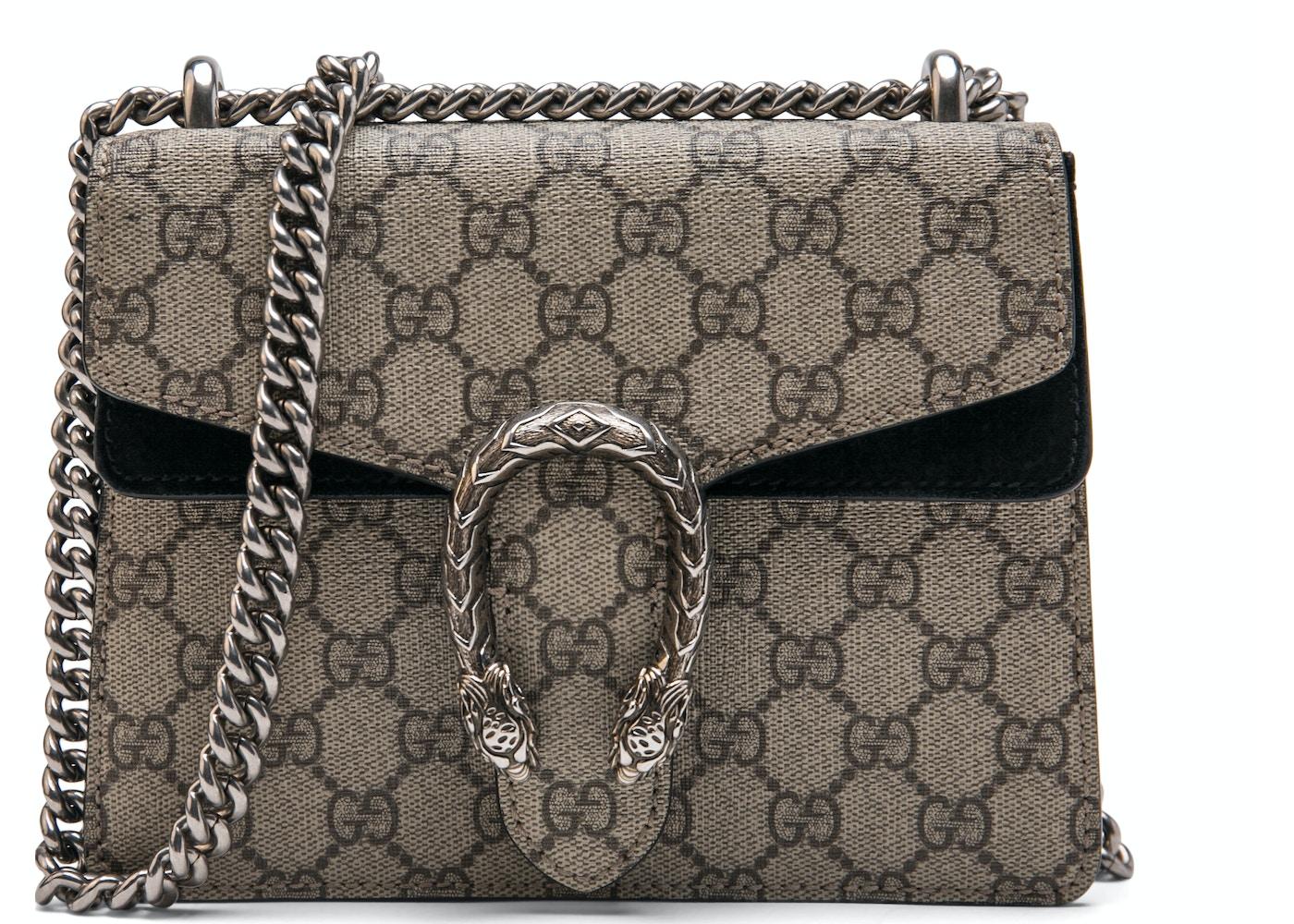 59b3de164264 Gucci Dionysus Shoulder GG Supreme Mini Brown/Black. GG Supreme Mini  Brown/Black