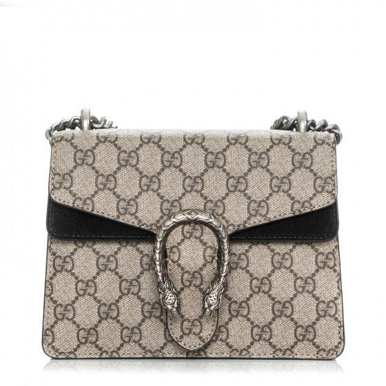 Gucci Dionysus Shoulder GG supreme Mini Brown/Black