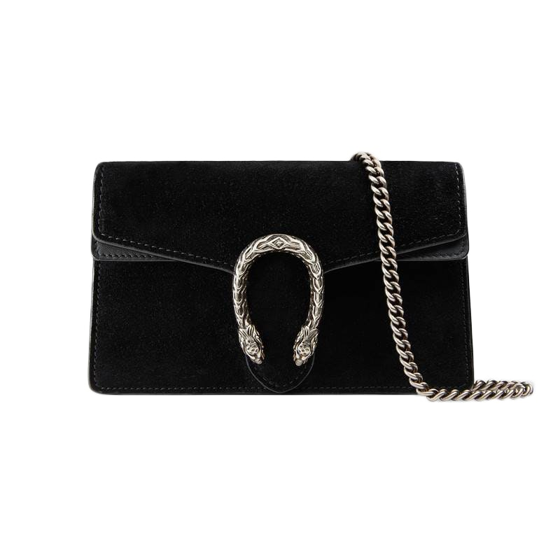 Gucci Dionysus Suede Super Mini Black