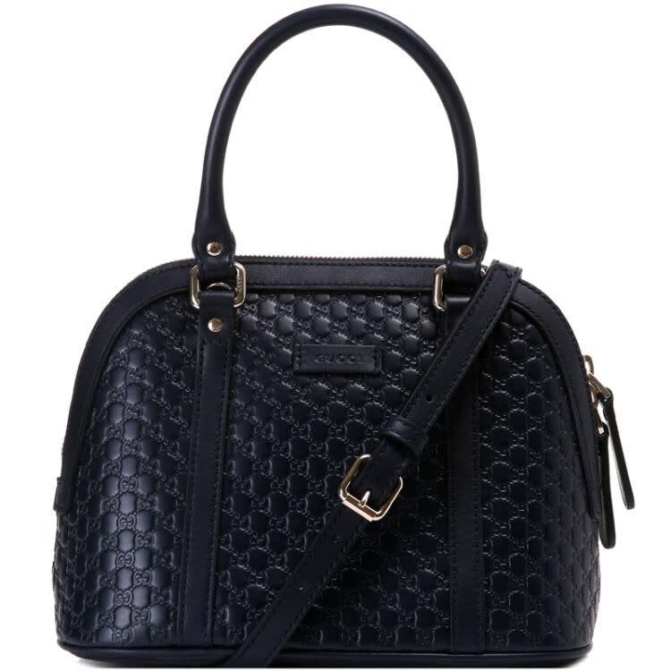 Gucci Dome Sling Bag MicroGuccissima Black