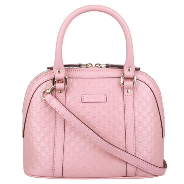 Gucci Dome Sling Bag MicroGuccissima Pink
