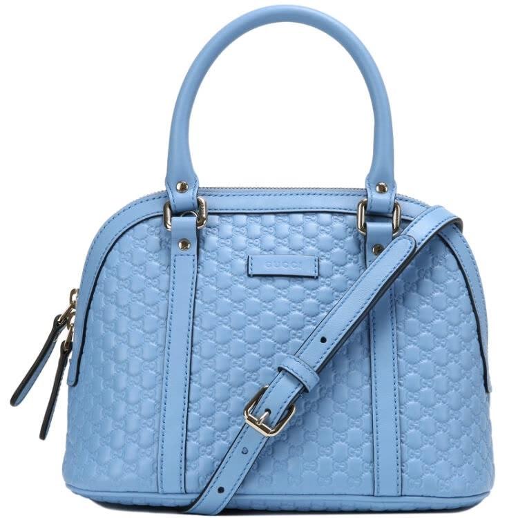 Gucci Dome Top Handle Microguccissima Small Mineral Blue