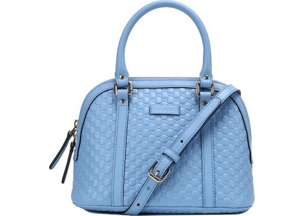 aff7ea1b4005 Gucci Dome Top Handle Microguccissima Small Mineral Blue