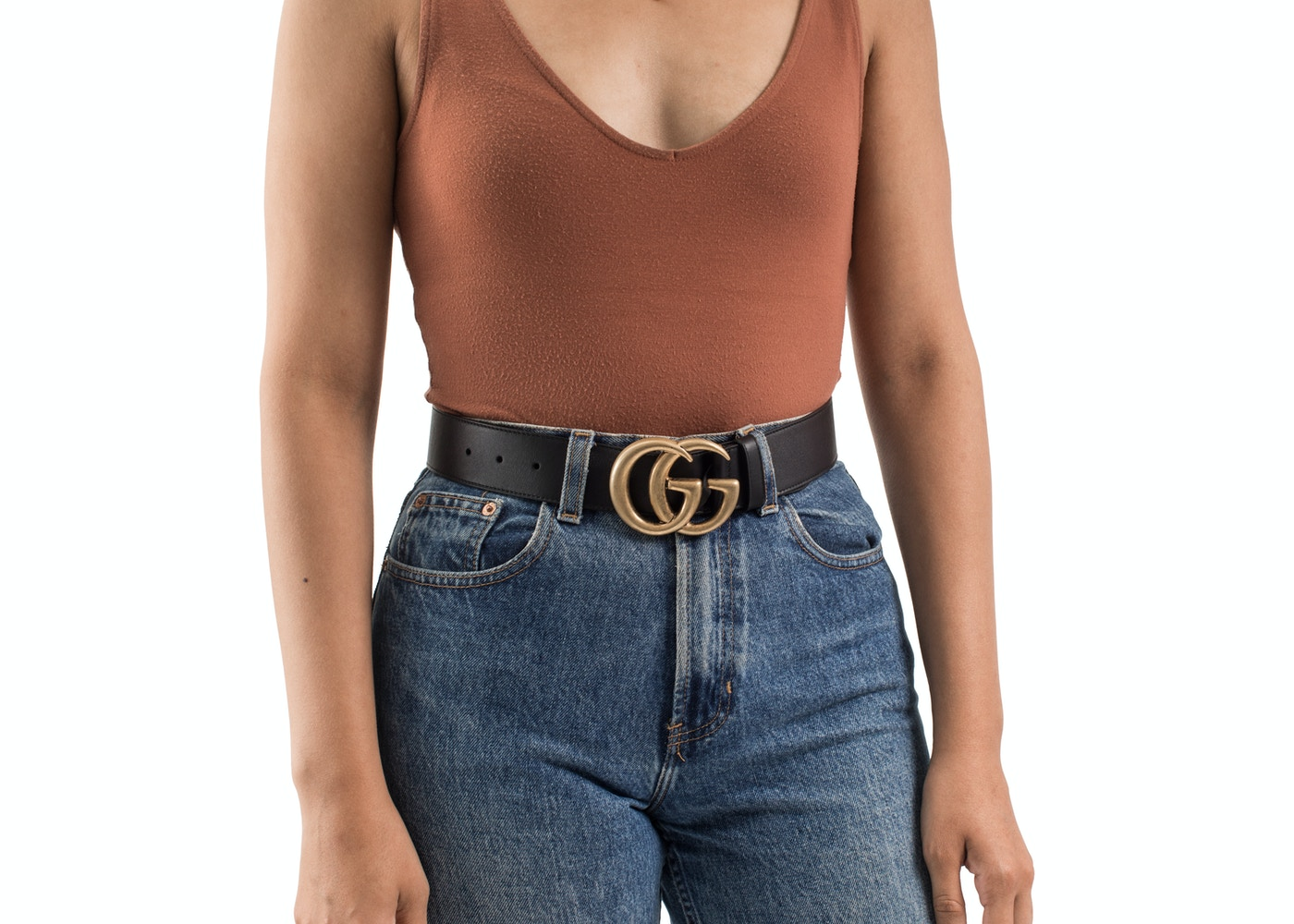 7202abc2371 Gucci Double G Buckle Leather Belt 1.5 Width 70-28 Black