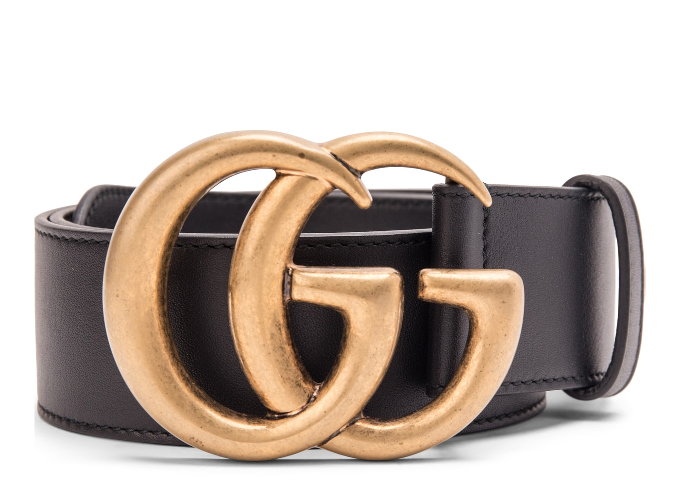90c166547c5 Gucci Double G Buckle Leather Belt 1.5 Width 70-28 Black. 70-28 Black